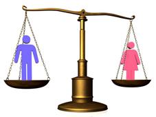 Gender balance scale