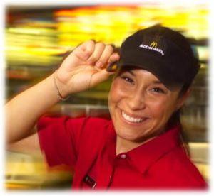 Young, female McDonalds employee