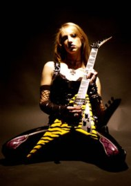 Female rock guitarist