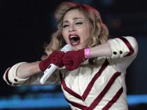 Madonna performing in Sankt Petersburg