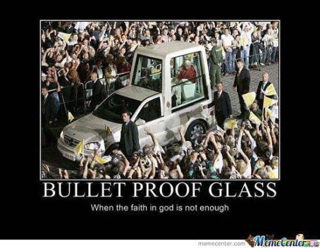 Bullet proof pope