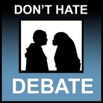Don't hate, debate