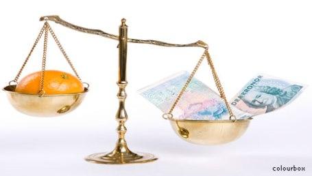 Pengar i vågskålen